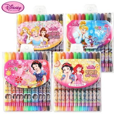 금홍팬시 디즈니프린세스 빙글 12색 색연필 (랜덤1개)