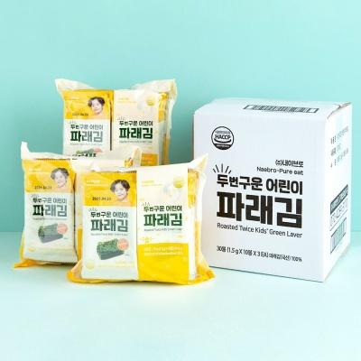 퓨어잇 두번구운 어린이 파래김(1.5g x 30포)