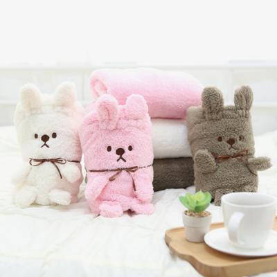 따뜻한 겨울 귀여운 토끼인형 극세사 무릎담요 CHUBBY