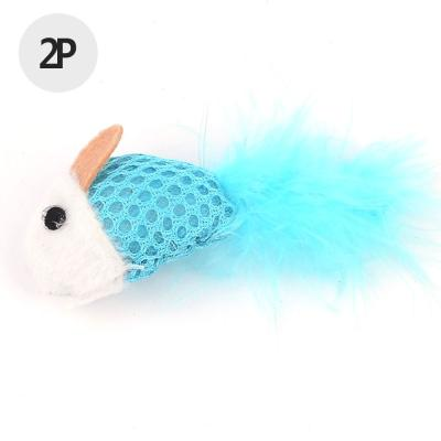 고양이 칼라마우스인형 장난감 2p 1세트(색상랜덤)