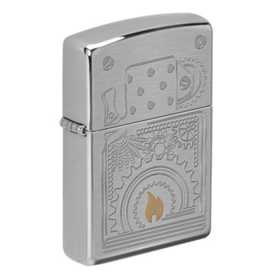 ZIPPO 라이터 49419 Brushed Chrome Auto Two Tone