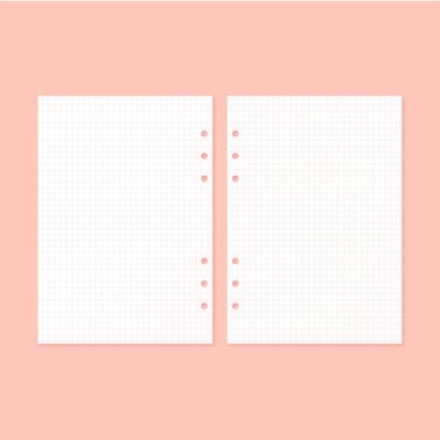A5 데코포켓 베이직 속지 - 핑크 그리드