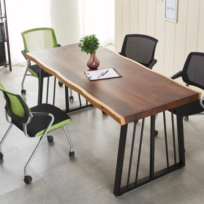 우드슬랩 폭600 1600 테이블 4인용 회의테이블