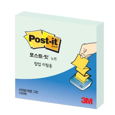 3M 포스트-잇 팝업리필 KR-330 애플민트