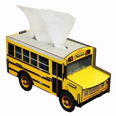 Tissue case school bus