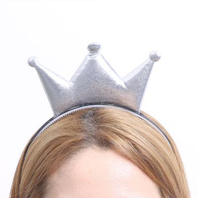 칼라 폼 왕관 머리띠 (실버)