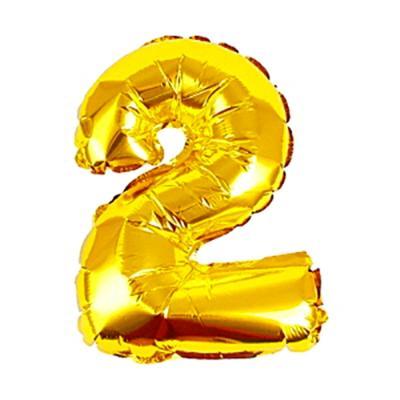 알파벳 숫자 은박풍선 (소) 골드 2