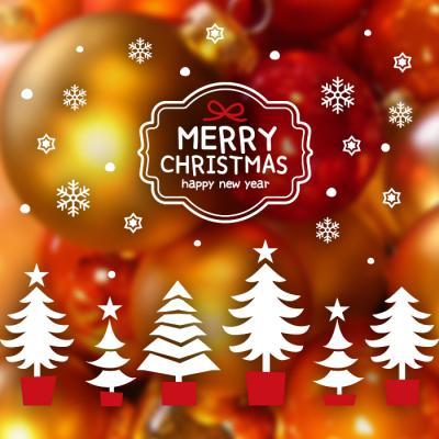 제제데코 크리스마스 눈꽃 스티커 장식 CMS4J247