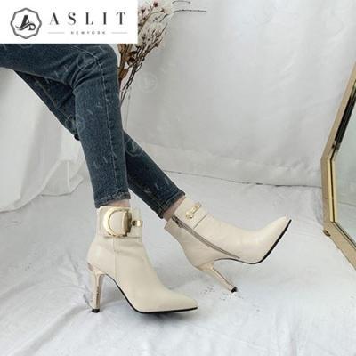 [애슬릿]안감 기모 D 버클 여성 앵클 부츠 9.5cm