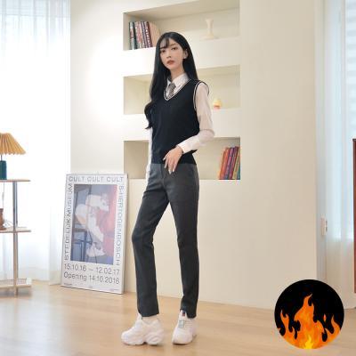 [스판 극대화]매트 그레이 기모 교복바지(여자)
