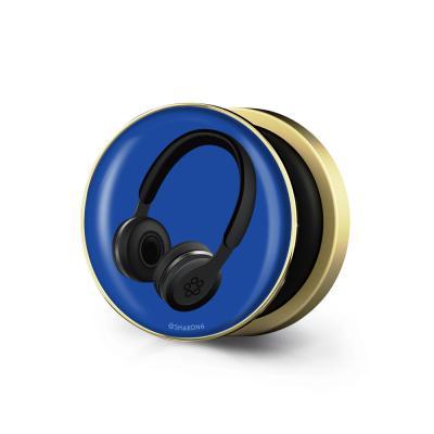 샤론6 골드 원형 그립톡 헤드폰