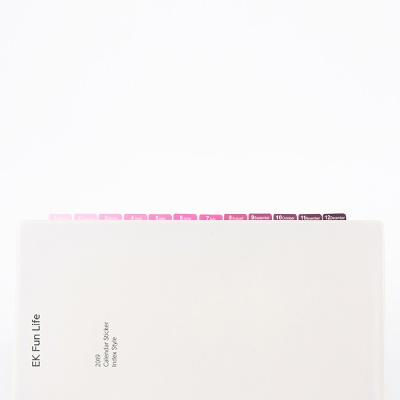 2019달력스티커 Violet-Purple-Pink
