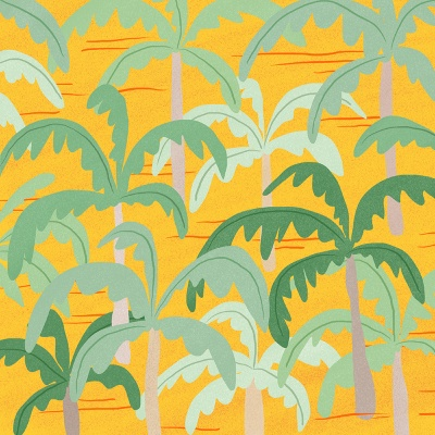 palm tree yellow 엽서