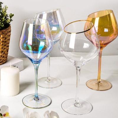 사선 오로라 와인 샴페인글라스