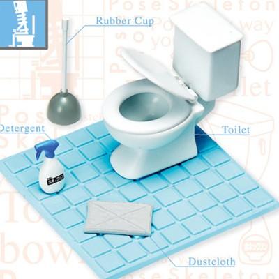포즈 스켈레톤 - 스켈레톤 화장실세트(사람포함안됨)