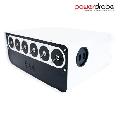 파워드로브 멀티탭 5구 USB 2포트 화이트