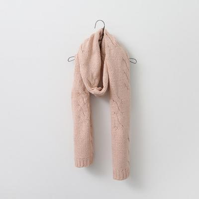 Simple Twist Knit Muffler
