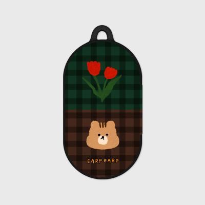 Check rose squirrel-green/brown(Buds hard case)