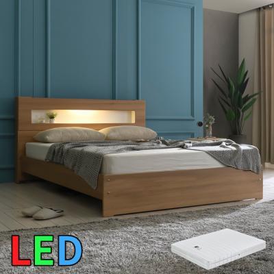모델하우스 LED조명 침대 퀸(스프링매트) KC145