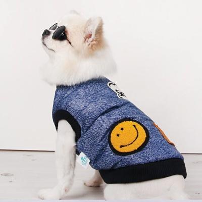 강아지겨울옷 스마일데님점퍼
