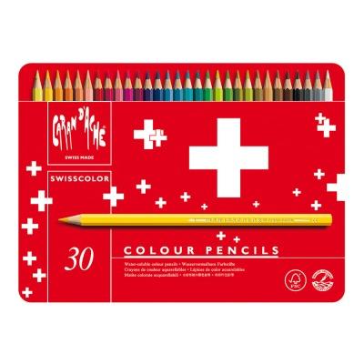 까렌다쉬 수채색연필-스위스컬러 30색 메탈박스