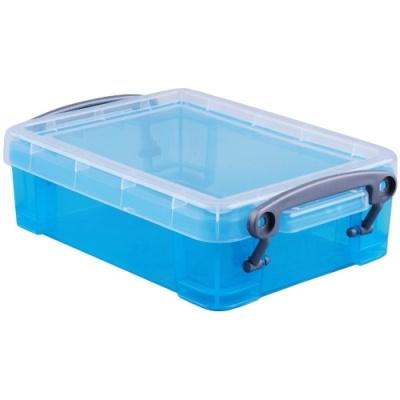 [Really Useful] 클리어박스0.75리터 (Litre) 투명블루 [개/1] 302731