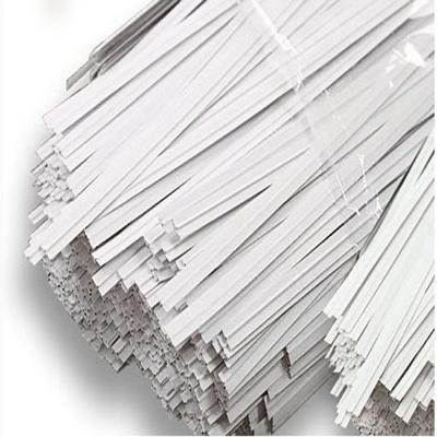 흰색 10CM 케이블타이 매듭 종이빵끈 약 1000개
