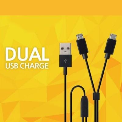 DL909D 듀얼 USB 충전케이블 C타입+5핀 자동차충전