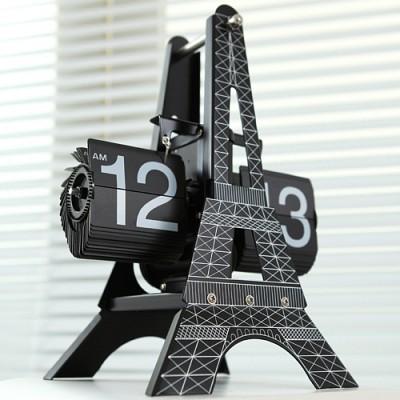 New 에펠탑 플립 탁상시계