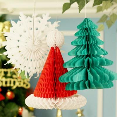 크리스마스 행잉데코 3종세트(트리/산타모자/설정)
