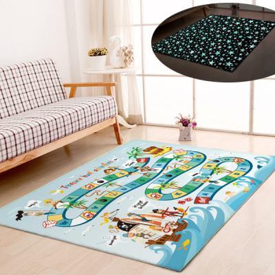 굿나잇 놀이방 야광매트 소형 100x150 보물탐험