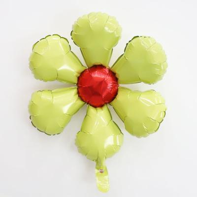 은박 꽃풍선 50cm (옐로우)