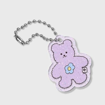 Blossom bear friends-purple(글리터키링-퍼플)
