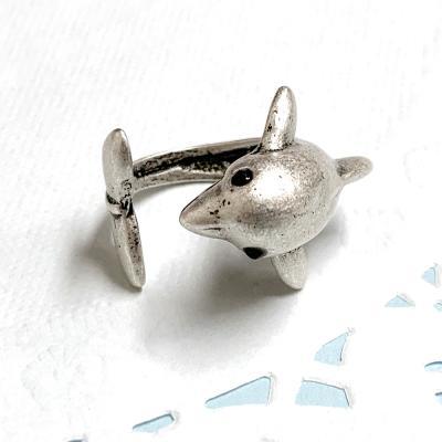 실버문 행운의 돌고래 반지 하트케이스
