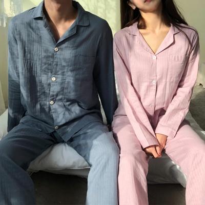 순면 봄 커플 잠옷 홈웨어