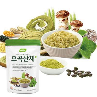 [오곡산채] 영양있는 밥상 혼합분말 가루 100gx2팩