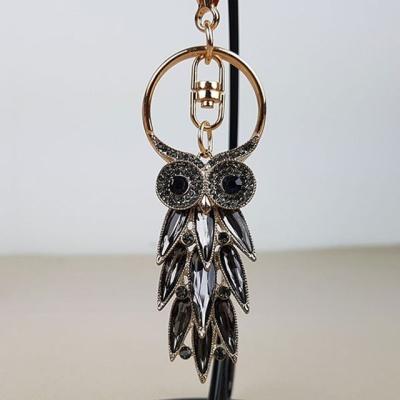 부엉이 보석 열쇠고리 키홀더 키링 BB (1614)