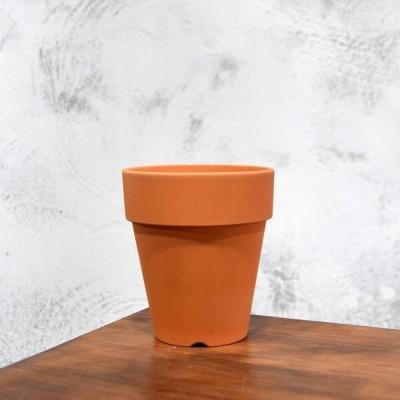 국산 토기색 플라워 긴기본형 토분 10x12cm(10호)