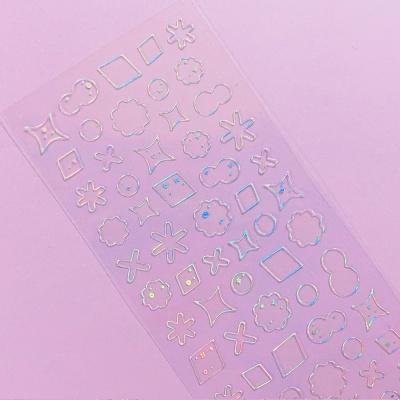 투명금테 투명도100% Deco-Twinkle 2 오로라 스티커