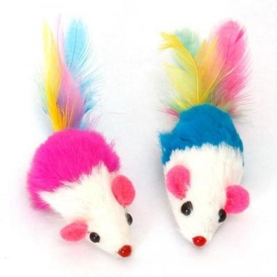 고양이 사냥 놀이 용품 꼬리 깃털달린 쥐 장난감