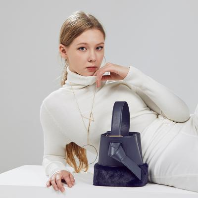 Lycka Fur Mini Bag 리카 퍼 미니백 네이비