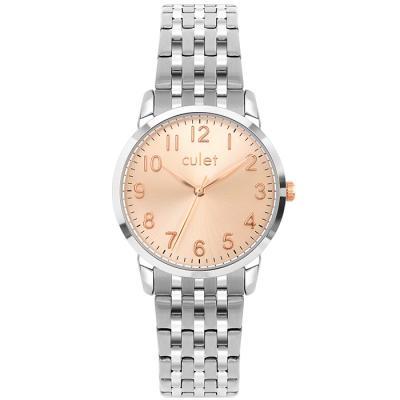 큐렛 CL10718 로즈 남녀 메탈 손목시계