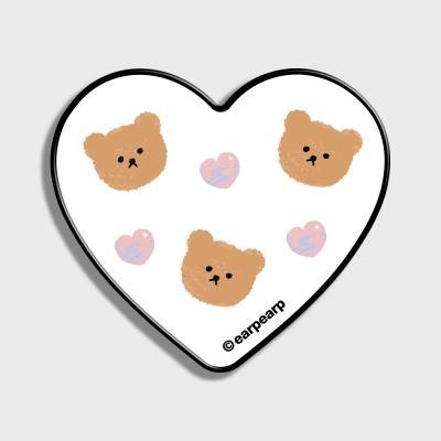 Dot love and bear-white(하트톡)