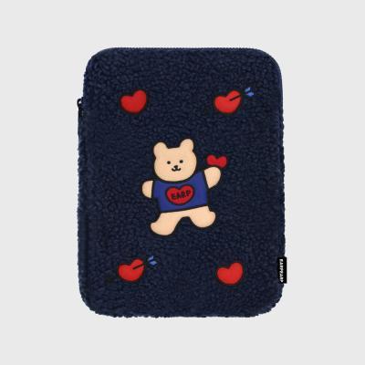 Covy heart-navy(아이패드 양털파우치)