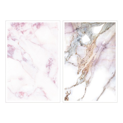 Miccudo 프린트-온 스티커 (1.Pink marble)