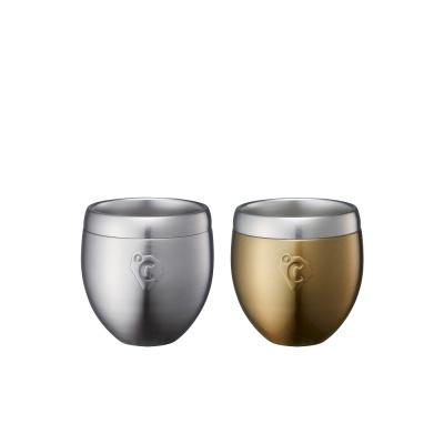 온도존 프리징 스테인레스진공 보냉컵 - 골드 180ml