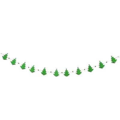 나무재질 크리스마스장식 트리모양 가랜드 1.8m