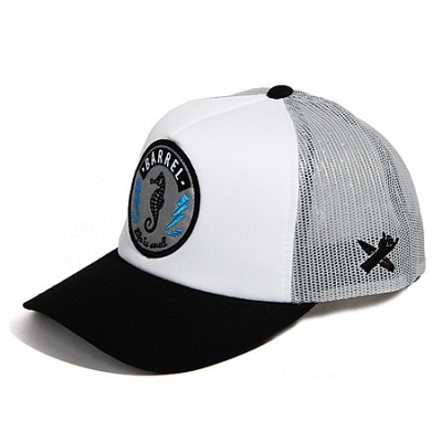 Sea Horse Mesh Cap White