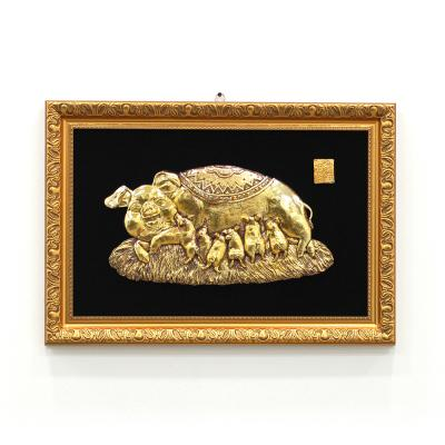 (khhl211)황금 돼지 액자 (대)