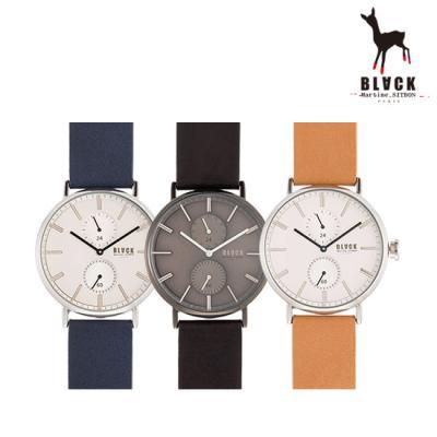 [블랙마틴싯봉] 남성 가죽 손목시계 BKL1662M